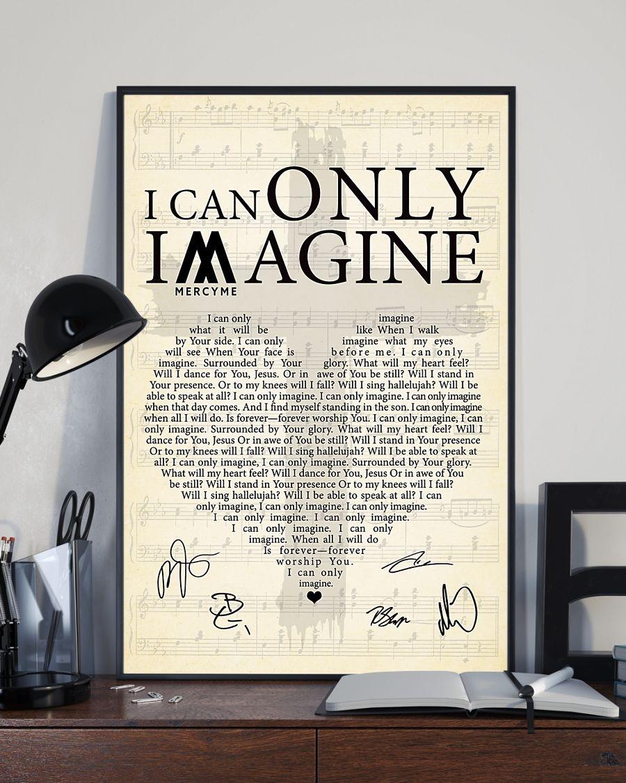 I Can Only Imagine lyrics signatures poster 2