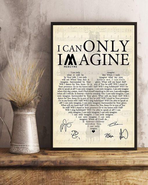 I Can Only Imagine lyrics signatures poster 3