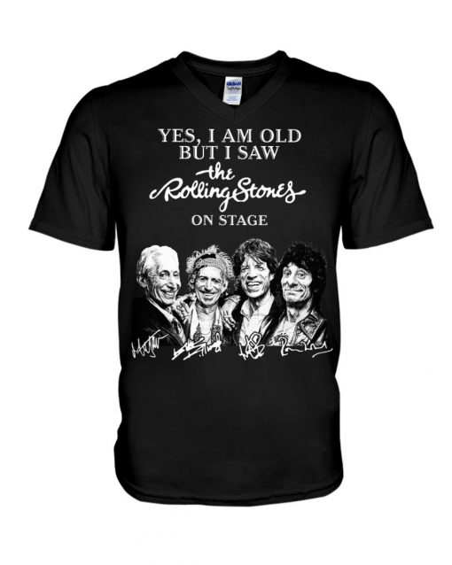 I am old but I saw Rolling Stones on stage signature V-neck