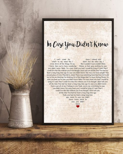 In case you didn't know lyrics poster 2