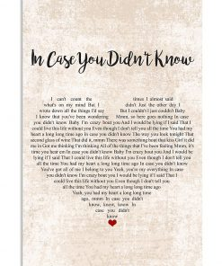In case you didn't know lyrics poster