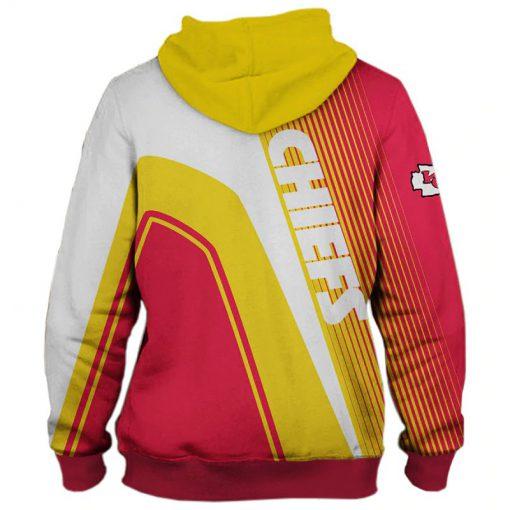 Kansas City Chiefs stripes 3d hoodie back
