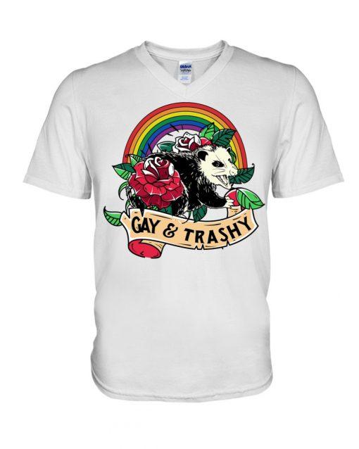 LGBT Gay and Trashy v-neck