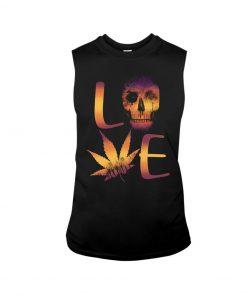 Love Skull Weed Tank top