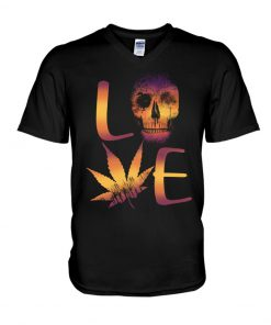 Love Skull Weed V-neck