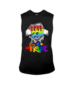 Love is Love LGBT pride tank top