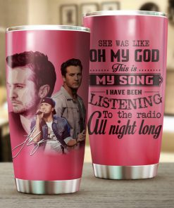 Luke Bryan I cross my heart and promise to give all tumbler