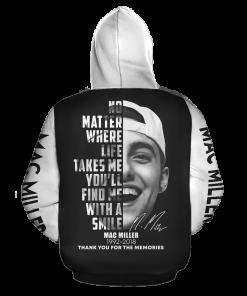 Mac Miller Signature 3D hoodie back