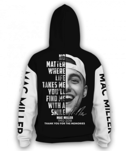 Mac Miller Signature 3D hoodie zip back