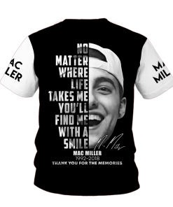 Mac Miller Signature 3D shirt baCK
