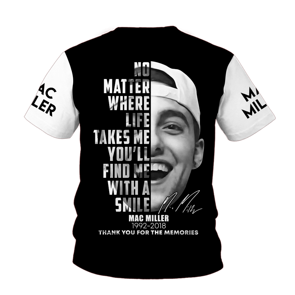 Mac Miller Signature 3D shirt baCK