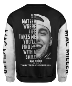 Mac Miller Signature 3D sweatshirt back