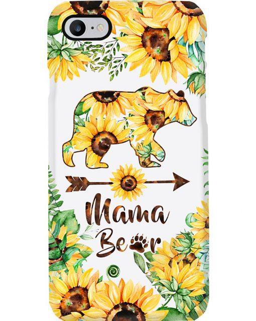 Mama bear Sunflower phone case 7