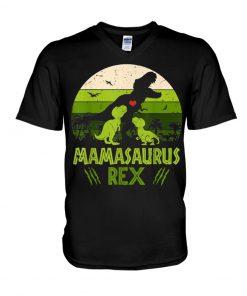 Mamasaurus Rex Vintage Retro V-neck