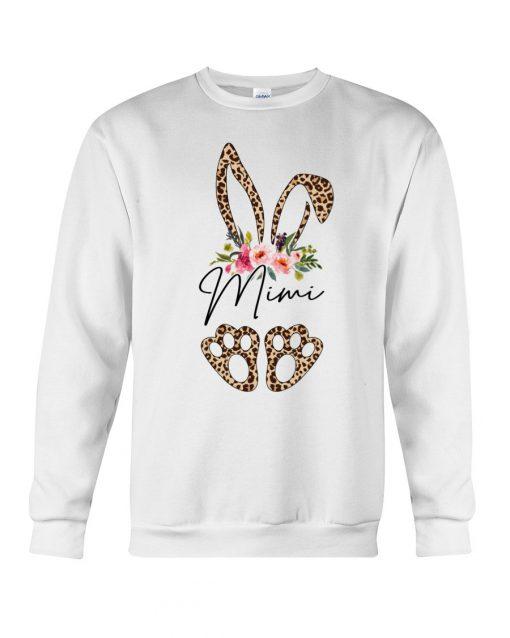 Mimi Bunny Leopard skin Floral Sweatshirt