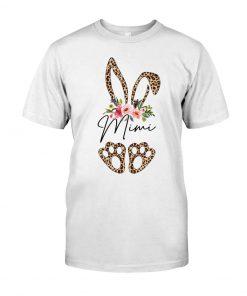Mimi Bunny Leopard skin Floral T-shirt