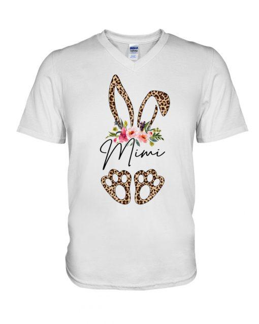 Mimi Bunny Leopard skin Floral V-neck