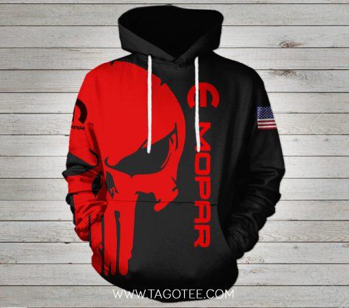 Mopar Punisher Skull 3d hoodie