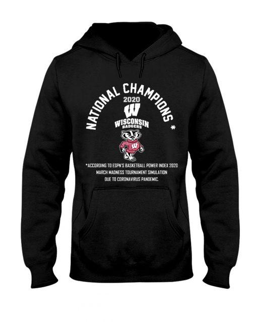 National Champion 2020 Wisconsin Badgers football Hoodie