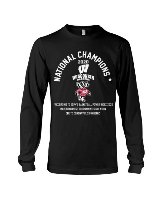 National Champion 2020 Wisconsin Badgers football Long sleeve