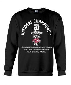National Champion 2020 Wisconsin Badgers football Sweatshirt