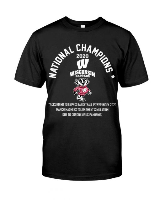 National Champion 2020 Wisconsin Badgers football Tank top
