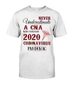 Never underestimate a CNA who survived 2020 Coronavirus pandemic shirt