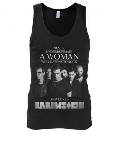 Never underestimate a woman who listens to rock and loves Rammstein tank top