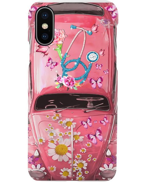 Nurse Pink Volkswagen Beetle VW Bugs phone case x