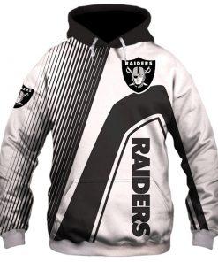 Oakland Raiders stripes 3d hoodie