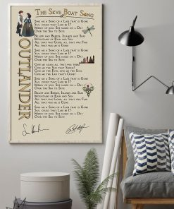 Outlander - The Skye Boat Song lyrics poster 1