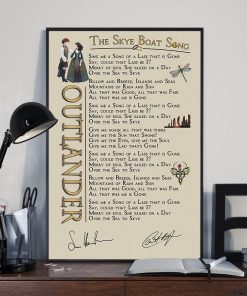 Outlander - The Skye Boat Song lyrics poster 2