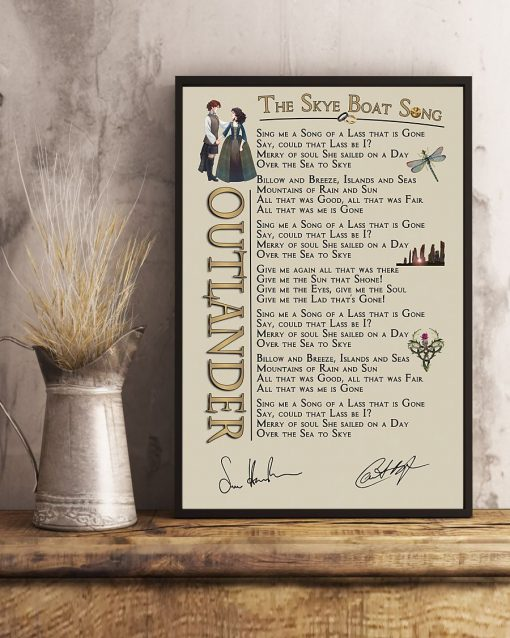 Outlander - The Skye Boat Song lyrics poster 3