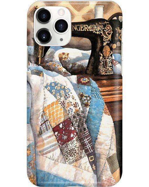 Patchwork Quilt Sewing Machine phone case 11