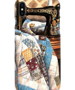 Patchwork Quilt Sewing Machine phone case 8