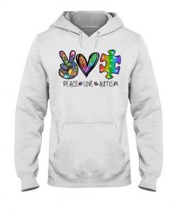 Peace Love Autism glitter hoodie