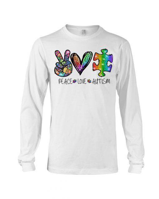 Peace Love Autism glitter long sleev