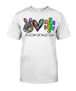 Peace Love Autism glitter shirt