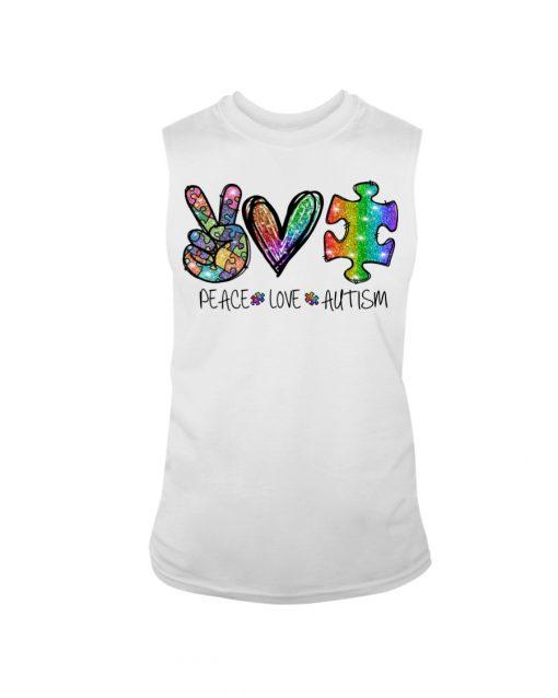 Peace Love Autism glitter tank top