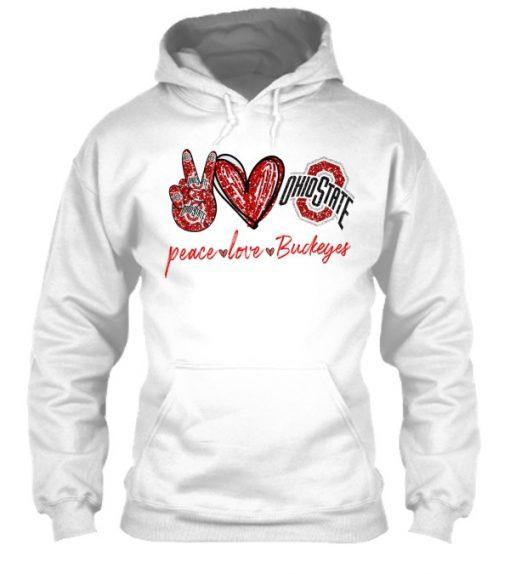 Peace Love Buckeyes glitter hoodie