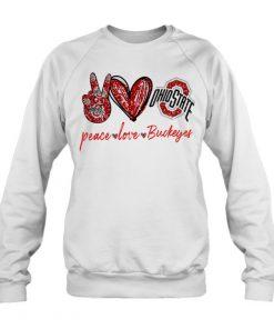 Peace Love Buckeyes glitter long sleeved