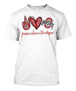 Peace Love Buckeyes glitter shirt