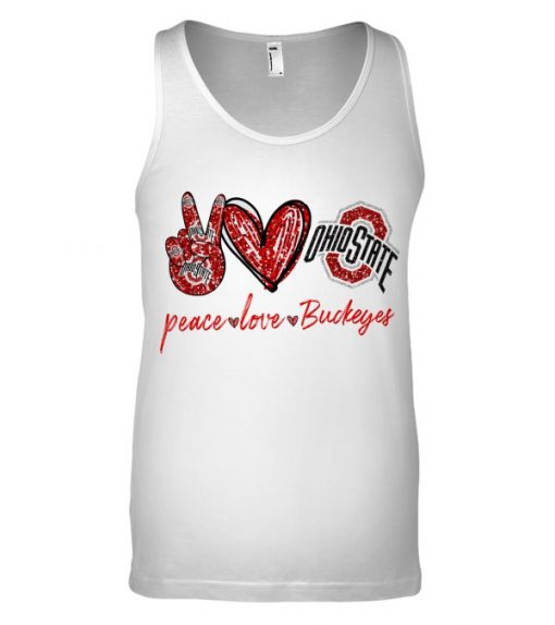 Peace Love Buckeyes glitter tank top