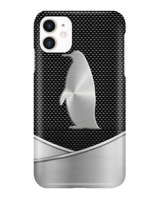 Penguin as metal phone case 11