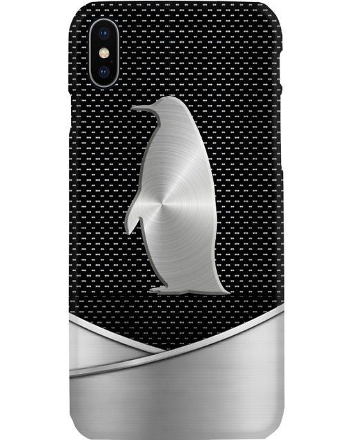 Penguin as metal phone case x