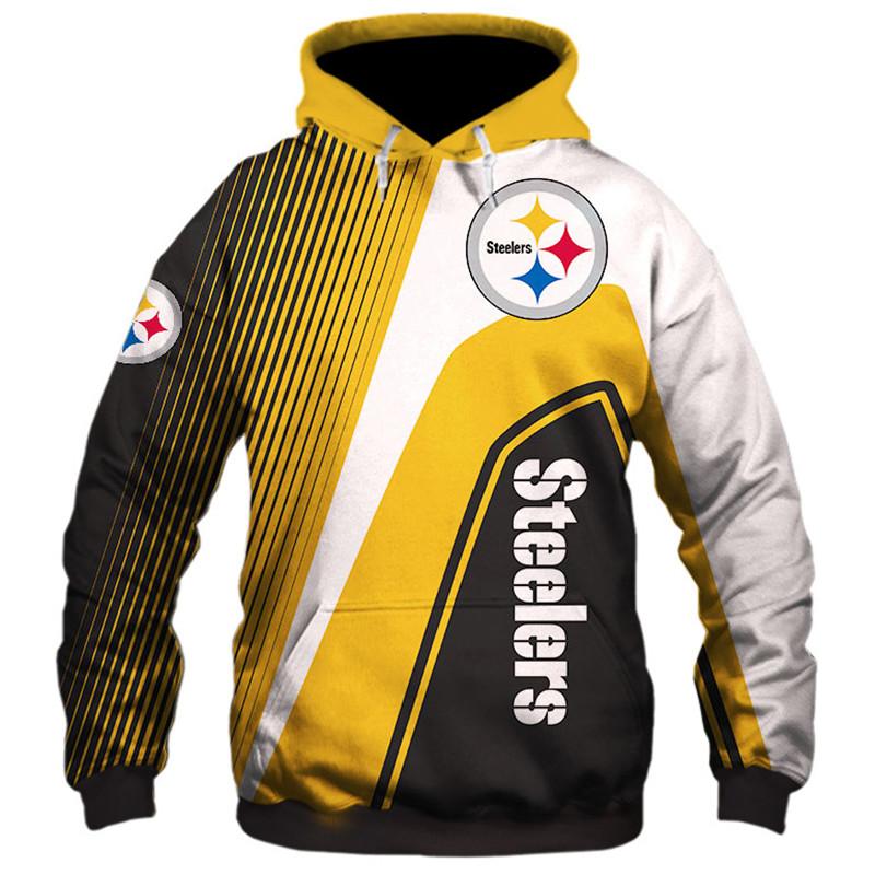 Pittsburgh Steelers stripes 3d hoodie