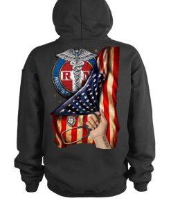 Registered Nurse RN American Flag personalized hoodie