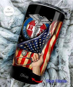 Registered Nurse RN American Flag personalized tumbler