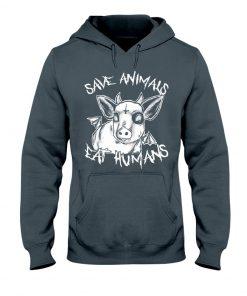 Save animals eat humans Satan Cow hoodie