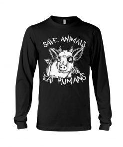 Save animals eat humans Satan Cow long sleeved